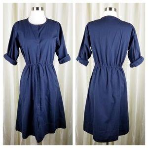Gap navy cotton midi dress